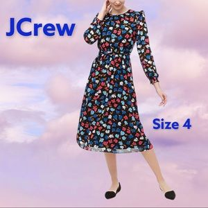 NWT JCrew floral long sleeves dress 4